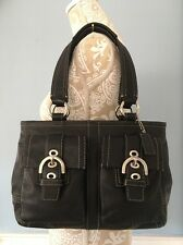 COACH 8A09 Soho Black Leather Shoulder bag Handbag Satchel EUC
