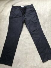 New York and Company Women's Size 6 Pants Stretch Straight Dark Blue Cotton