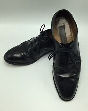 JOHNSTON & MURPHY Men Limited Collection Black Leather Wingtip 10 C/A 24-93210