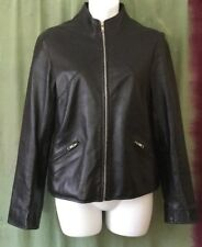 Womens Leather Jacket, M, Firetrap, Black. Zip Up.