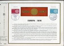 DOCUMENT CEF PREMIER JOUR  1970  TIMBRE N° 1637 - 1638  EUROPA FORME DE SOLEIL
