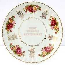 Vintage Ruby Wedding Anniversary Plate Wood & Sons Avon