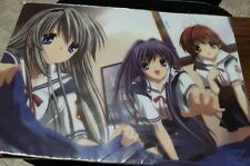 Clannad Plastic Poster Desk Mat Official Movic Japan Anime Cute Girl Game RARE