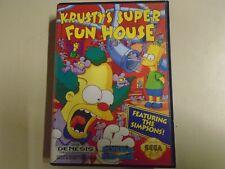 Krusty's Super Fun House Sega Genesis Game