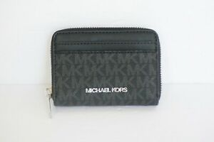 Michael Kors Jet Set Travel MD ZA Card Case Wallet PVC Solid MK Signature