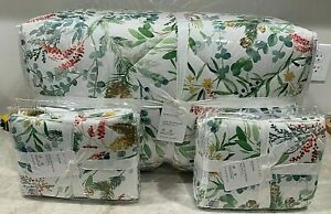 Pottery Barn Noel Botanical floral KING Comforter standard shams