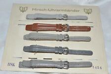 HIRSCH 5 x Leder Uhrenarmband z. B. in grau, braun 13 mm und 15mm  - Vintage Top
