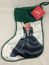 "Mattel Barbie Christmas Stocking 13"" 1995 Hallmark"