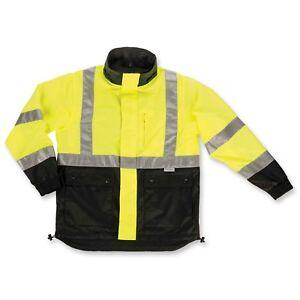 Ergodyne GloWear 8360 Type R Class 2 Reversible Work Jacket, 5XL
