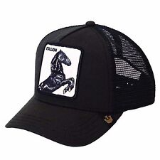 "Goorin Bros. Animal Farm Trucker Snapback Hat Cap Black/""Stallion"""