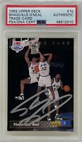 SHAQUILLE O'NEAL 1992 Upper Deck Orlando MAGIC  Rookie CARD #1b Heat LAKERS PSA