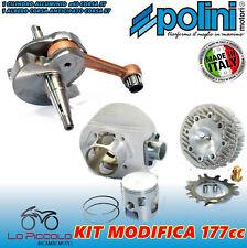 PER VESPA PX 125 150  POLINI KIT GRUPPO TERMICO ALLUMINIO 177cc + ALBERO MOTORE