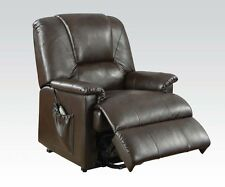 Acme Furniture 10652 Reseda Comfort Recliner Chair with Power Lift in Brown NEW