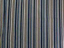 Harlequin Rush Fabric - Blue White Beige stripe 3.2 metres