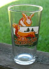 3 Dachsunds Brewing Company Pint Beer Glass Milwaukee Wisconsin Rabbit