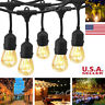 E26 Commercial 24FT 48FT Bulbs Outdoor Waterproof Party Patio String Light