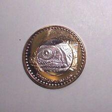 2015 San Andres 2 Pesos, Lizard, animal wildlife, bi-metallic coin