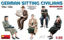 MINIART 38006 - 1/35 FIGURENSET GERMAN SITTING CIVILIANS (1930s-1940s) - NEU