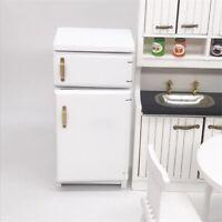 Dollhouse Miniature Kitchen Furniture Refrigerator Fridge Freezer Cabinet 1/12