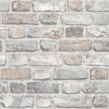GranDeco Home-Vintage Brick Wallpaper A28902 Pastels