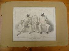 ORIGINAL, ANTIQUE 1830 'HB'  SATIRICAL LITHOGRAPHIC PRINT, HB LITHOGRAPH.
