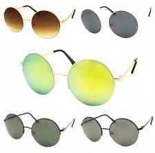 Mirror Lens Retro Lenon Style Sunglasses Metal Frame Round Flash Circle 60s Depp