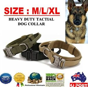 Heavy Duty Tactical Dog Collar Military Pet Collar With Metal Buckle Adjustable