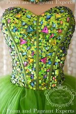 NWT GREEN Short PROM Cocktail Evening Homecoming Party Ball Gown Dress M 8
