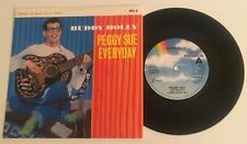 "Buddy Holly / Peggy Sue & Everyday / '84 7"" Vinyl 45 w PS / NM+!"