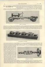 1921 Chassis Of The Leyland Eight Crankshaft Valve Mechanism
