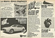 X9666 BBURAGO - Matra Simca Bagheera - Pubblicità 1976 - Advertising