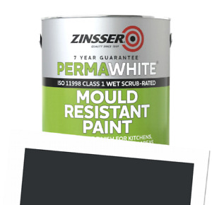 Perma-White Interior Matt Mould Resistant WB Tintable Paint RAL 7021 1L