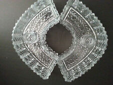 Pair Of antique configurable lead Crystal Glass Candle holder/centerpiece