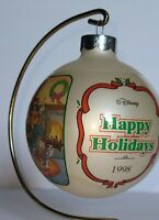 Disney Store Ornament MICKEY'S WINTER WONDERLAND Ball Ornament (1998)