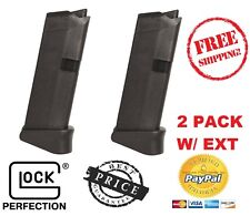 2PACK Glock G43 - Glock Model G43 Magazine 9mm 6 Round with Grip Extension NEW