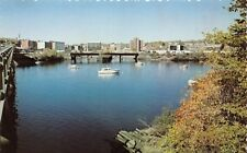 BANGOR MAINE AS SEEN FROM BREWER WATERVIEW POSTCARD 1960s
