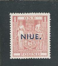 NIUE 1941-47 POSTAL FISCAL £1 PINK MM SG 86 CAT £65