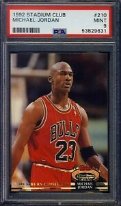 1992 Stadium Club #210 Michael Jordan PSA 9 MINT NBA - Ships From CAN & USA