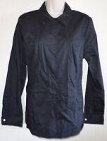 NEW Jaclyn Smith Black Button Down Blouse Dress Casual Shirt Top Long Sleeve L
