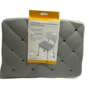 DMI Waterproof Foam Cushion for Bath Seats, Transfer Benches, Shower Chairs, and