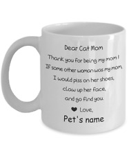 Cat Mom Coffee Mug Personalised Named 11 oz Funny Mommy Cat Lover Mug Mother m41