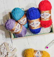 Alize Bikini Yarn Diva Stretch Acrylic Yarn Thread Crochet Yarn Hand Knitting