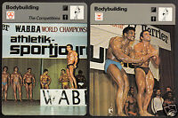 BODYBUILDING Focus on Sport 1978 SPORTSCASTER 2 CARDS Weightlifting Competitions