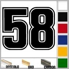 adesivo sticker 58 SIC Simoncelli prespaziato, auto moto,casco....