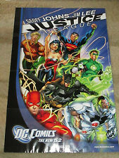 DC COMICS; DC NEW 52  JUSTICE LEAGUE PROMO POSTER  BY JIM LEE  HARD TO FIND!!!!!