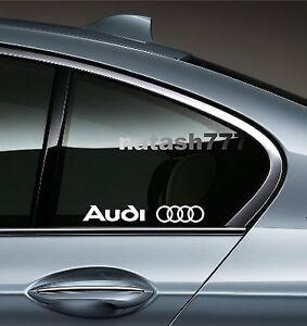 AUDI A3 A4 A5 A6  RS4 TT  S- Line Racing Decal sticker emblem logo WHITE Pair