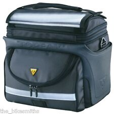 Topeak TT3022B Tour Guide DX Bike Handlebar Bag 470ci Black Hybrid Road Commuter