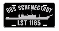 USS SCHENECTADY LST 1185 License Plate Military USN 001