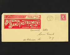 OPC 1917 Buescher Band Instument Co Illustrated 2 sides Advertising Perfin Cover