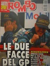 Auto & Sport ROMBO 27 1995 GP Francia stravince Michael Schumacher davanti HILL